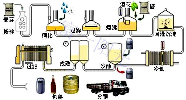 啤酒发酵工艺流程图—富一阳光